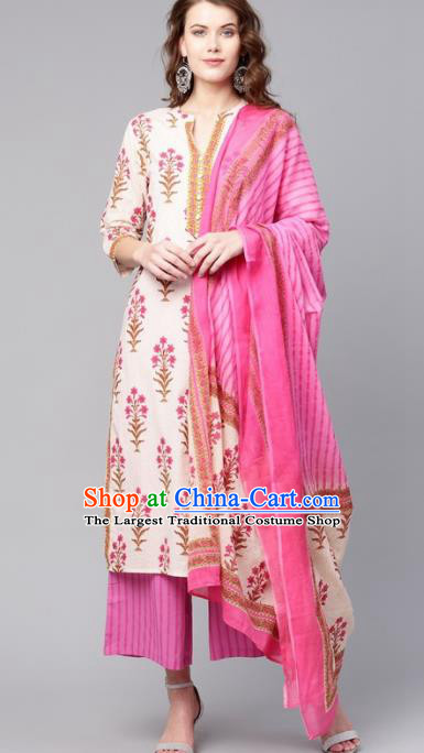 Asian India Traditional Punjabi Costumes South Asia Indian National Informal Blouse and Pants for Women