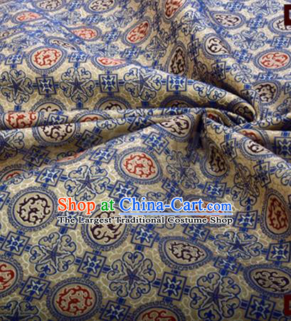 Chinese Traditional Dragons Pattern Design Silk Fabric Song Brocade Tang Suit Drapery Material