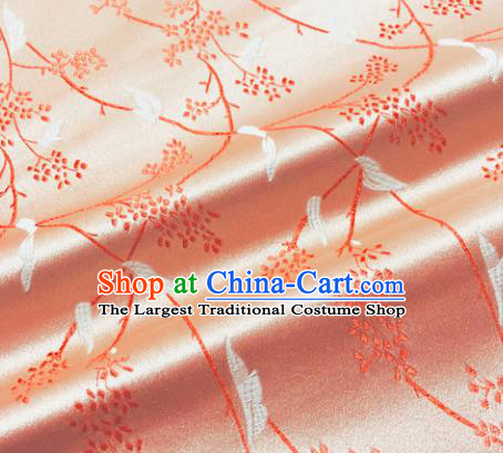 Chinese Traditional Pattern Design Pink Brocade Silk Fabric Tang Suit Fabric Material