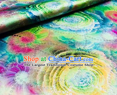 Chinese Traditional Pattern Design Colorful Brocade Hanfu Silk Fabric Tang Suit Fabric Material