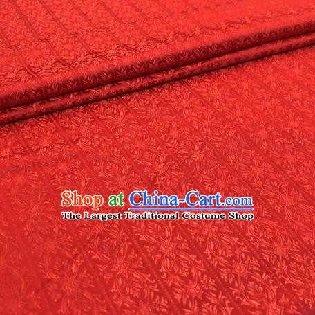 Chinese Traditional Hanfu Silk Fabric Classical Pattern Design Red Brocade Tang Suit Fabric Material