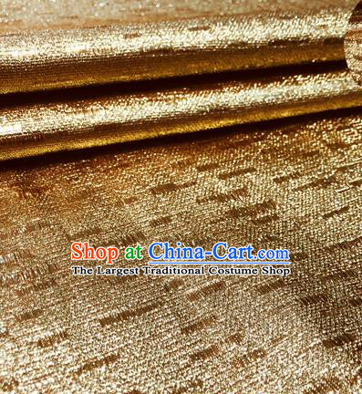 Chinese Traditional Hanfu Silk Fabric Classical Pattern Design Golden Brocade Tang Suit Fabric Material