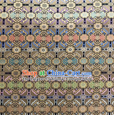 Chinese Traditional Pattern Design Satin Silk Fabric Bronze Song Brocade Tang Suit Drapery Material