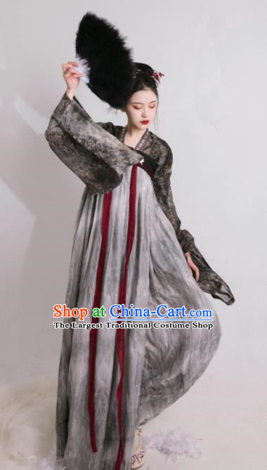 Asian Chinese Tang Dynasty Historical Costume Ancient Imperial Consort Traditional Hanfu Dress for Women