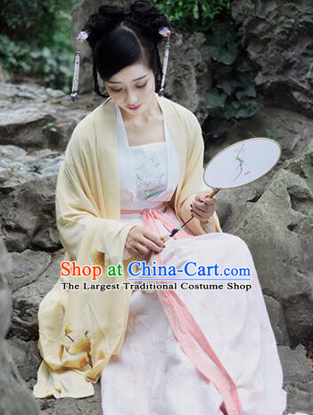 Traditional Chinese Ming Dynasty Imperial Consort Embroidered Hanfu Dress Ancient Drama Palace Lady Historical Costume for Women