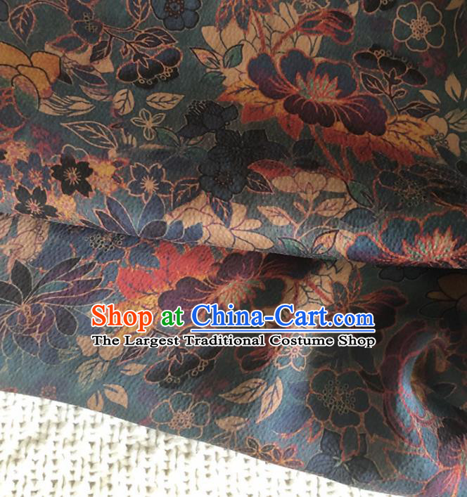 Asian Chinese Traditional Pattern Design Atrovirens Brocade Fabric Silk Fabric Chinese Fabric Asian Material