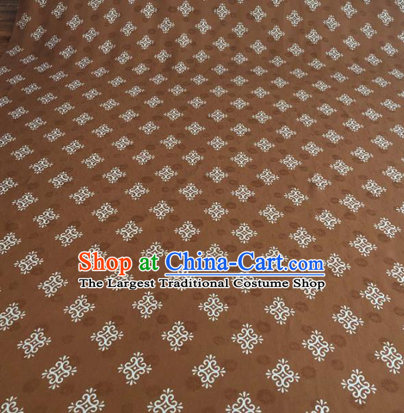 Asian Chinese Traditional Pattern Design Coffee Brocade Fabric Silk Fabric Chinese Fabric Asian Material