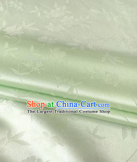 Asian Chinese Traditional Twine Flowers Pattern Design Light Green Brocade Fabric Silk Fabric Chinese Fabric Asian Material