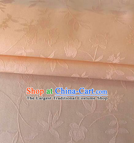 Asian Chinese Traditional Twine Flowers Pattern Design Pink Brocade Fabric Silk Fabric Chinese Fabric Asian Material