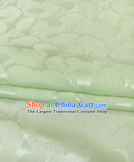 Asian Chinese Traditional Pattern Design Green Brocade Fabric Silk Fabric Chinese Fabric Asian Material