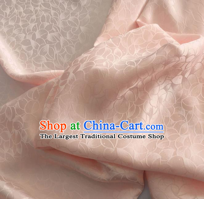 Asian Chinese Traditional Petal Pattern Design Pink Brocade Fabric Silk Fabric Chinese Fabric Asian Material