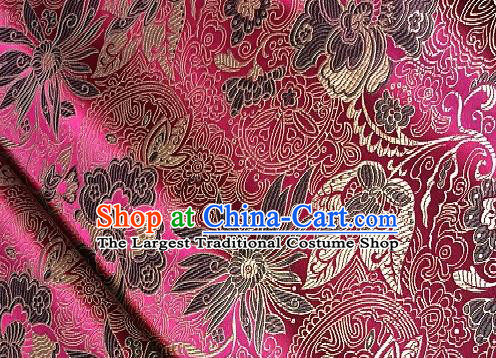 Asian Chinese Traditional Lotus Peony Pattern Design Brocade Fabric Silk Fabric Chinese Fabric Asian Material