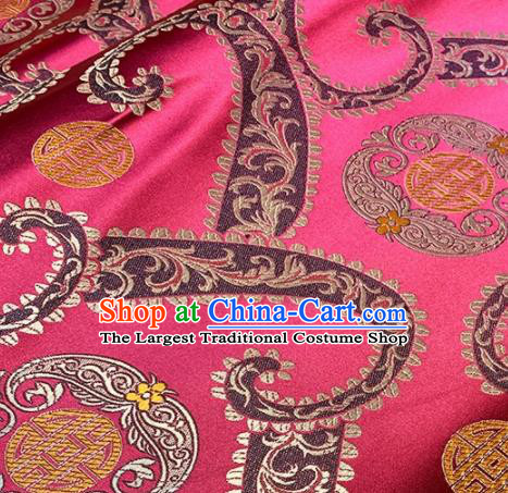 Asian Chinese Traditional Pattern Design Rosy Brocade Fabric Silk Fabric Chinese Fabric Asian Material