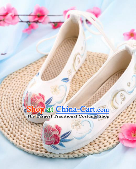 Chinese Traditional Hanfu Shoes Ancient Princess Embroidered Shoes National Cloth Shoes for Women