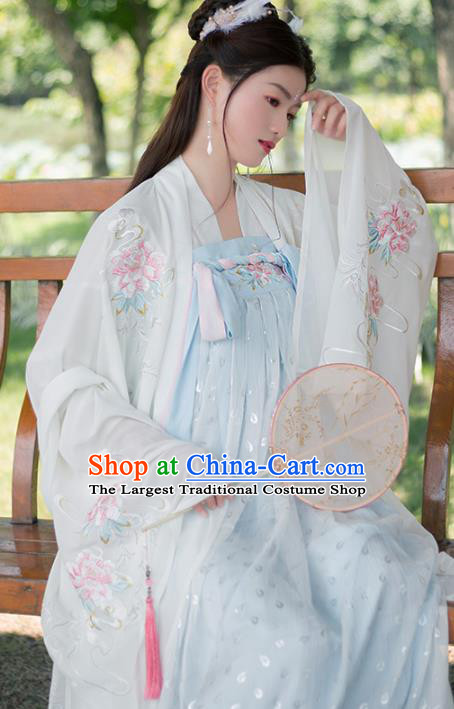 Traditional Chinese Tang Dynasty Imperial Concubine Hanfu Dress Ancient Court Princess Embroidered Historical Costume for Women