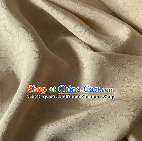 Chinese Traditional Pattern Design Champagne Brocade Fabric Asian Silk Fabric Chinese Fabric Material