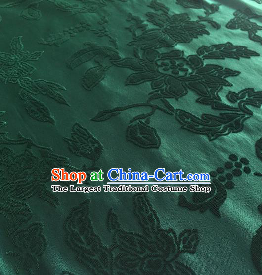 Chinese Traditional Peony Pattern Design Green Brocade Fabric Asian Silk Fabric Chinese Fabric Material
