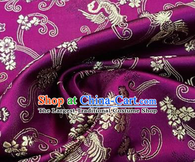 Chinese Traditional Hanfu Silk Fabric Classical Phoenix Totem Pattern Design Rosy Brocade Tang Suit Fabric Material