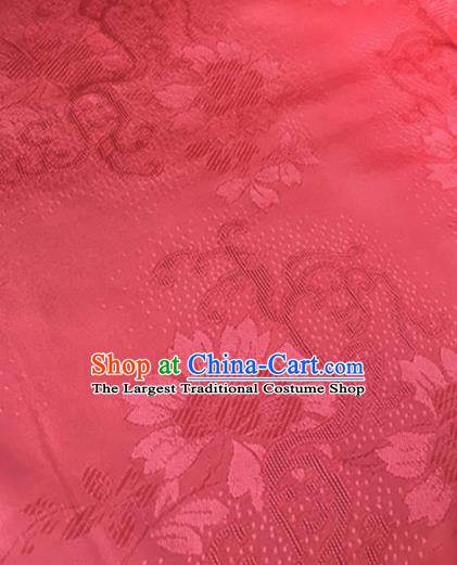Chinese Traditional Cirrus Flowers Pattern Design Rosy Brocade Fabric Asian Silk Fabric Chinese Fabric Material