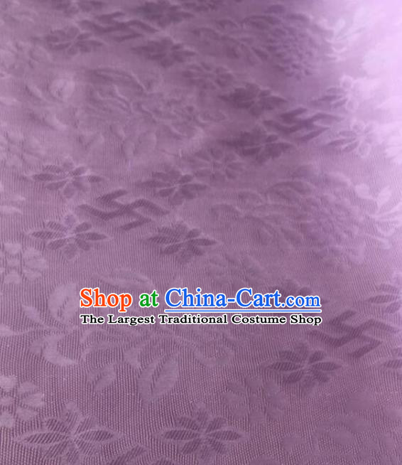 Chinese Traditional Rich Flowers Pattern Design Lilac Brocade Fabric Asian Silk Fabric Chinese Fabric Material