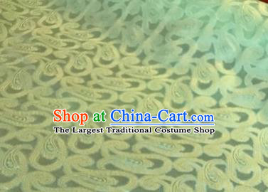 Chinese Traditional Pattern Design Green Brocade Fabric Asian Silk Fabric Chinese Fabric Material