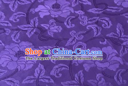 Chinese Traditional Vine Pattern Design Purple Brocade Fabric Asian Silk Fabric Chinese Fabric Material
