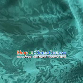 Chinese Traditional Flower Bird Pattern Design Green Brocade Fabric Asian Silk Fabric Chinese Fabric Material