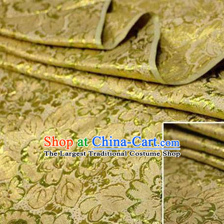 Chinese Classical Pattern Design Golden Brocade Asian Traditional Hanfu Silk Fabric Tang Suit Fabric Material