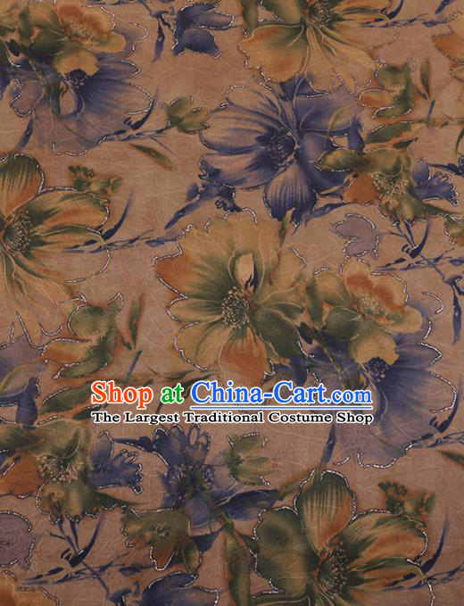 Traditional Chinese Classical Pattern Design Satin Watered Gauze Brocade Fabric Asian Silk Fabric Material