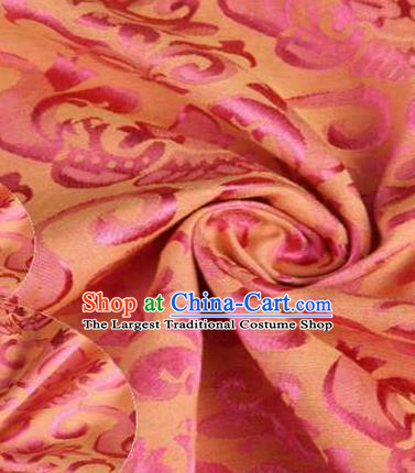 Chinese Classical Didymaotus Pattern Design Pink Brocade Traditional Hanfu Silk Fabric Tang Suit Fabric Material