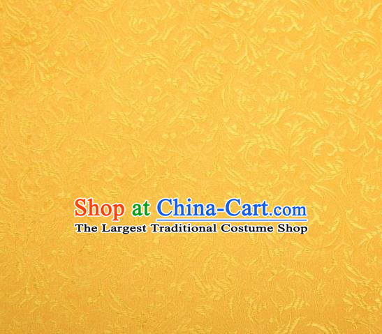 Chinese Classical Pattern Design Yellow Brocade Asian Traditional Hanfu Silk Fabric Tang Suit Fabric Material