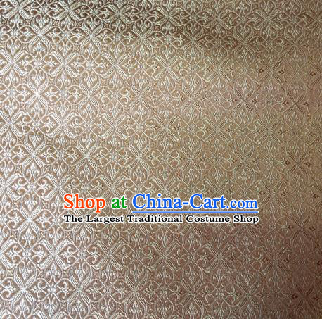 Chinese Classical Pozidriv Pattern Design Light Golden Brocade Asian Traditional Hanfu Silk Fabric Tang Suit Fabric Material