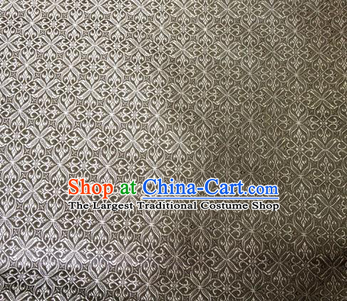 Chinese Classical Pozidriv Pattern Design Grey Brocade Asian Traditional Hanfu Silk Fabric Tang Suit Fabric Material