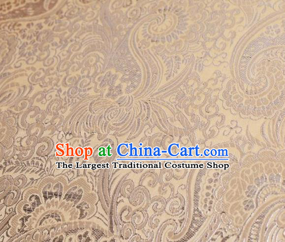 Chinese Classical Charonia Tritonis Pattern Design Khaki Brocade Asian Traditional Hanfu Silk Fabric Tang Suit Fabric Material