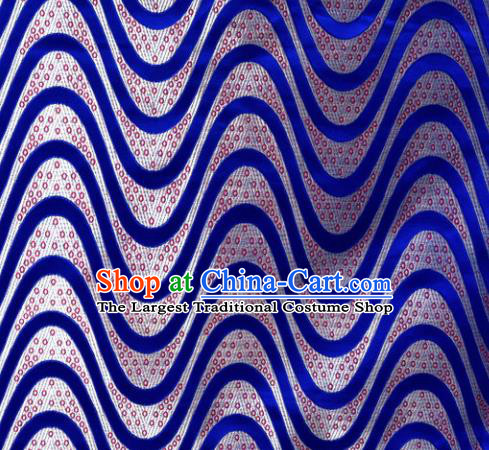 Chinese Classical Plum Blossom Pattern Design Royalblue Brocade Asian Traditional Hanfu Silk Fabric Tang Suit Fabric Material