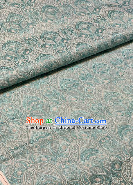 Chinese Classical Pattern Design Green Brocade Asian Traditional Hanfu Silk Fabric Tang Suit Fabric Material