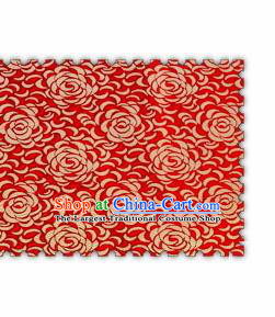 Chinese Classical Chrysanthemum Pattern Design Red Brocade Asian Traditional Hanfu Silk Fabric Tang Suit Fabric Material