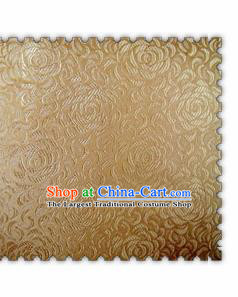 Chinese Classical Chrysanthemum Pattern Design Golden Brocade Asian Traditional Hanfu Silk Fabric Tang Suit Fabric Material
