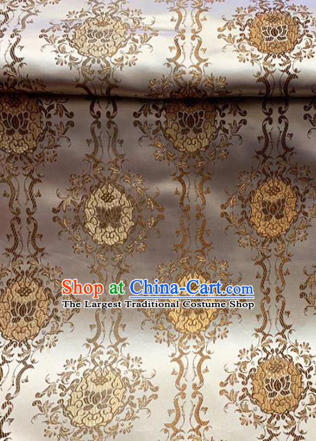 Chinese Classical Lotus Pattern Design Brocade Asian Traditional Cheongsam Silk Fabric Tang Suit Fabric Material