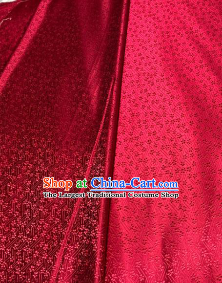 Chinese Classical Pattern Design Red Brocade Drapery Asian Traditional Tang Suit Silk Fabric Material