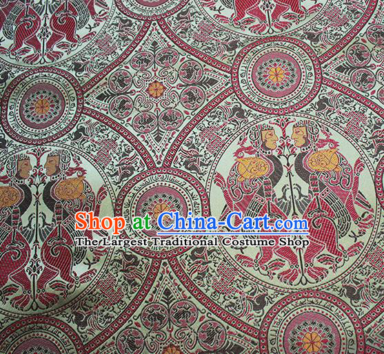 Traditional Chinese Classical Totem Pattern Design Fabric Brocade Tang Suit Satin Drapery Asian Silk Material