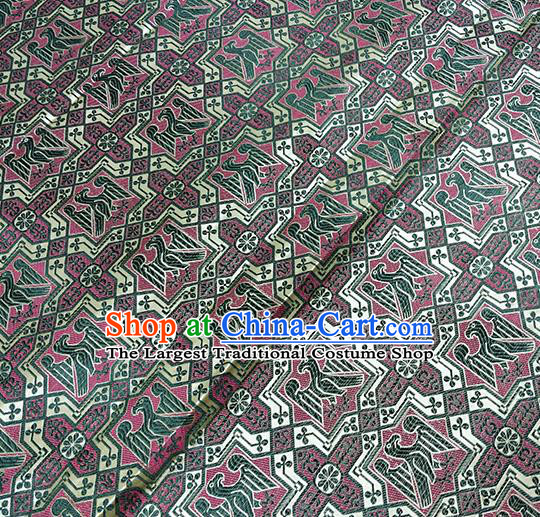 Traditional Chinese Classical Crow Pattern Design Fabric Brocade Tang Suit Satin Drapery Asian Silk Material