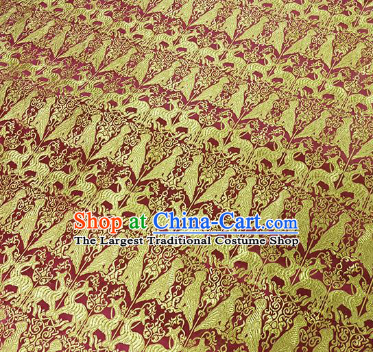 Traditional Chinese Classical Deers Pattern Design Fabric Brocade Tang Suit Satin Drapery Asian Silk Material