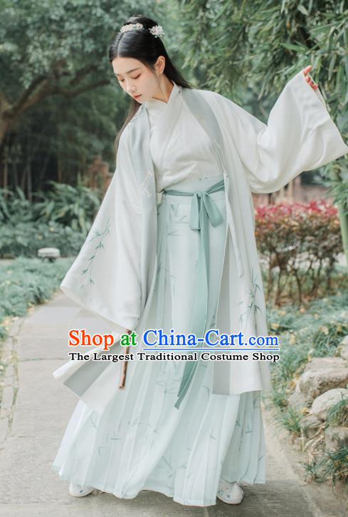 Traditional Chinese Ancient Jin Dynasty Court Princess Embroidered Historical Costume Complete Set for Women