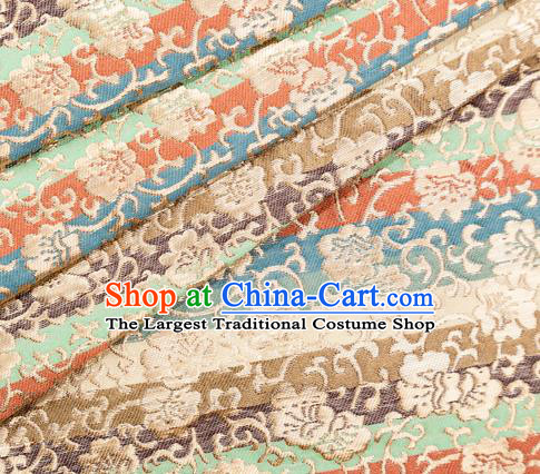 Asian Japanese Kimono Fabric Classical Pattern Design Brocade Traditional Drapery Silk Material