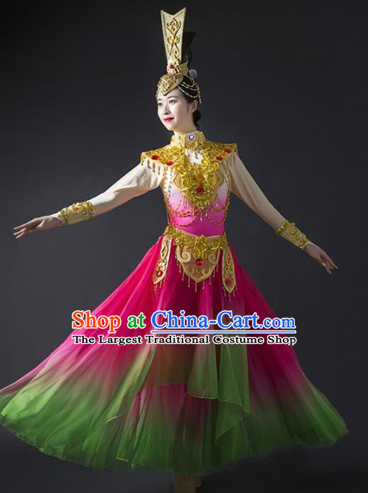 Chinese Traditional Dance Bichunmoo Dress Classical Dance Stage Performance Costume for Women