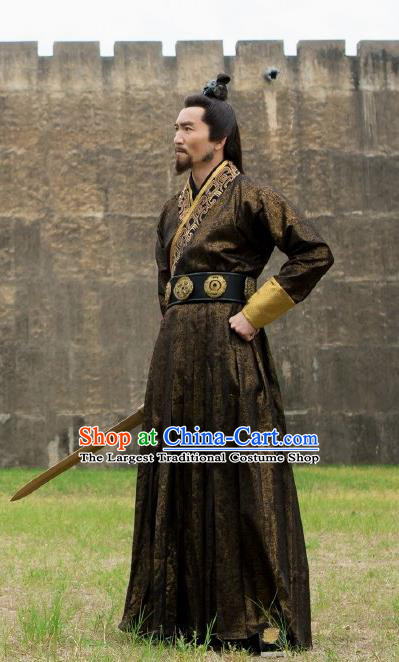 Drama The Legend of Deification Chinese Ancient Shang Dynasty King Zhou Costume for Men