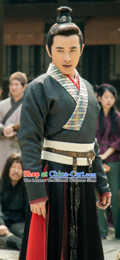 Chinese Ancient Shang Dynasty Swordsman Yang Jian Clothing Drama The Legend of Deification Costume for Men