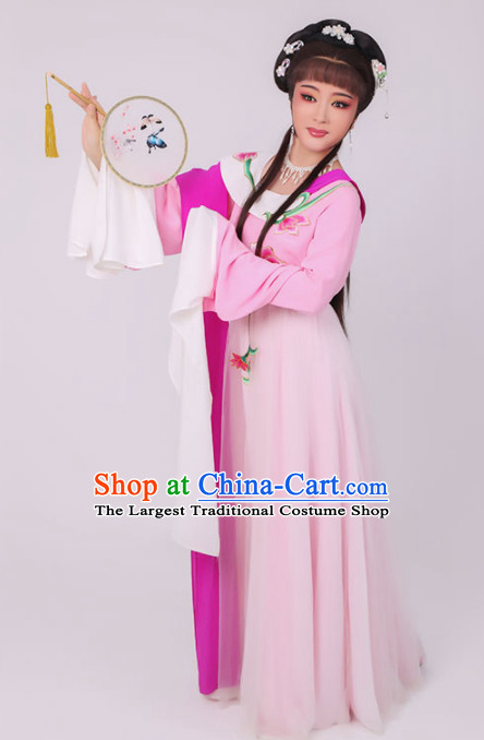Chinese Traditional Peking Opera Diva Costume Ancient Princess Pink Dress for Women