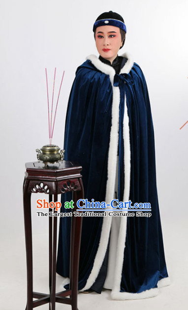 Chinese Traditional Beijing Opera Niche Navy Cloak Ancient Scholar Childe Costume for Men